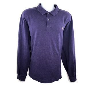 Polo Ralph Lauren Mens Purple Long Sleeve Polo